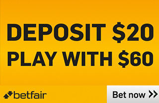betfair banner - deposit $20 play with $60
